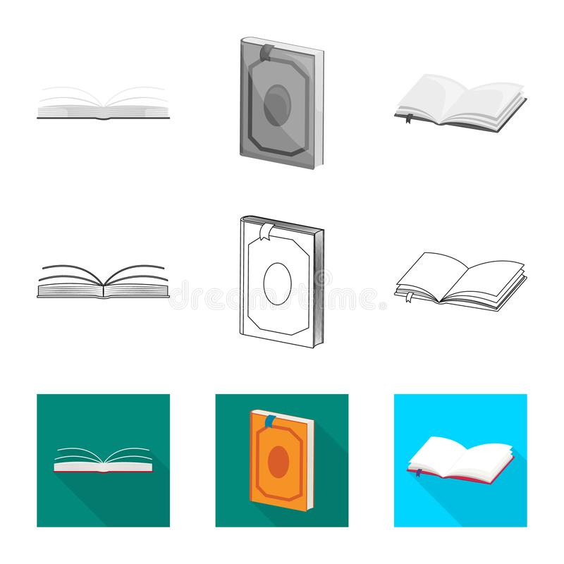 Wektorowy projekt szkolenia i pokrywy logo Set szkolenie i bookstore wektorowa ikona dla zapasu royalty ilustracja