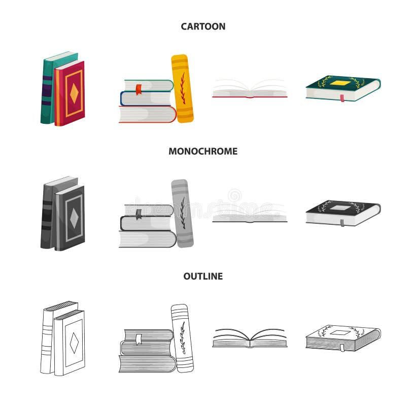 Wektorowy projekt szkolenia i pokrywy symbol Kolekcja szkolenie i bookstore akcyjna wektorowa ilustracja royalty ilustracja