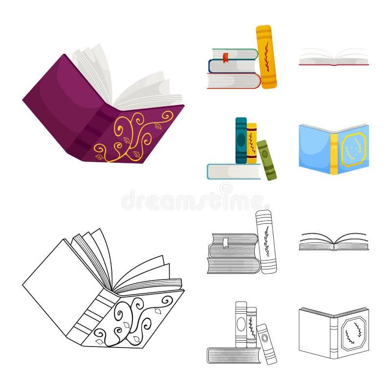 Wektorowy projekt szkolenia i pokrywy symbol Kolekcja szkolenie i bookstore akcyjna wektorowa ilustracja ilustracja wektor