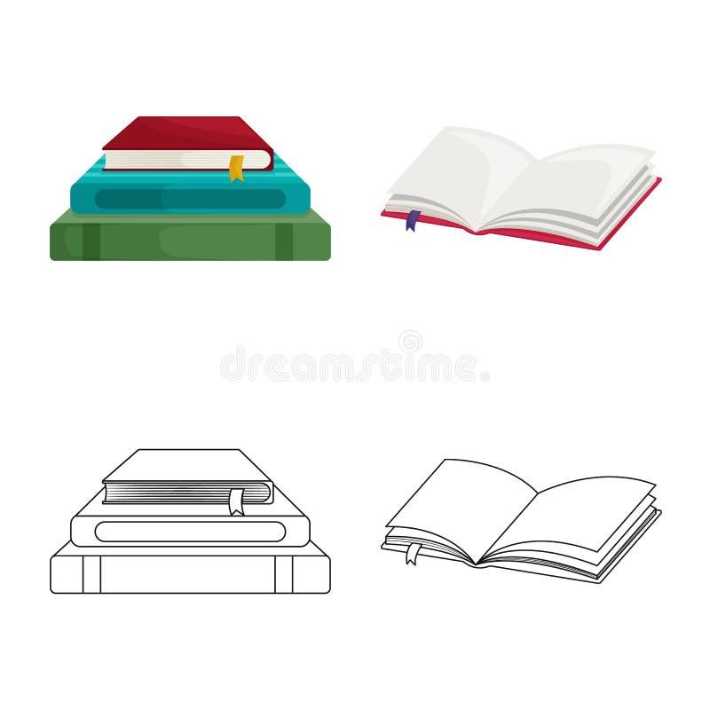 Wektorowy projekt szkolenia i pokrywy symbol Kolekcja szkolenie i bookstore akcyjny symbol dla sieci ilustracji