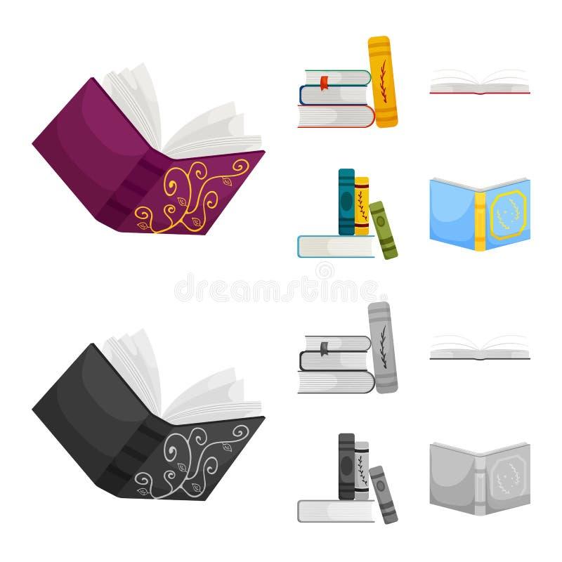 Wektorowy projekt szkolenia i pokrywy symbol Kolekcja szkolenie i bookstore wektorowa ikona dla zapasu ilustracja wektor