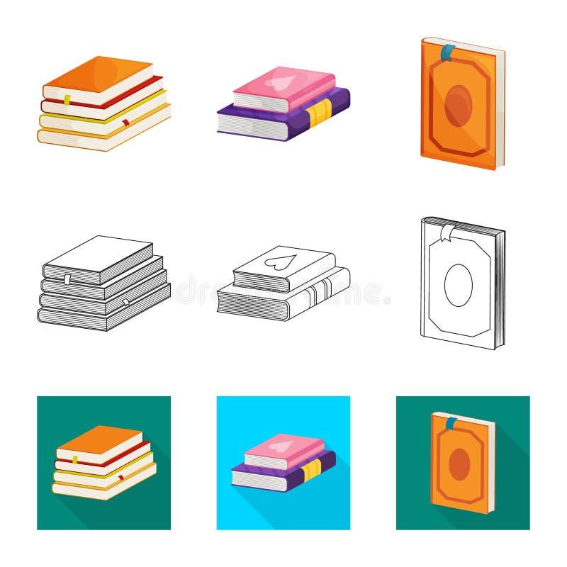 Wektorowy projekt szkolenia i pokrywy symbol Set szkolenie i bookstore akcyjna wektorowa ilustracja ilustracji