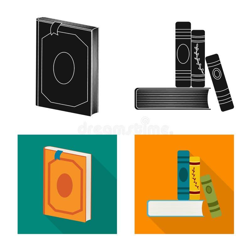Wektorowy projekt szkolenia i pokrywy symbol Set szkolenie i bookstore akcyjna wektorowa ilustracja ilustracja wektor