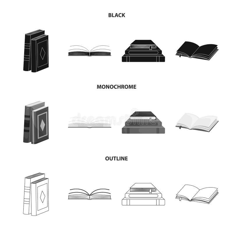 Wektorowy projekt szkolenia i pokrywy symbol Set szkolenie i bookstore akcyjny symbol dla sieci ilustracja wektor