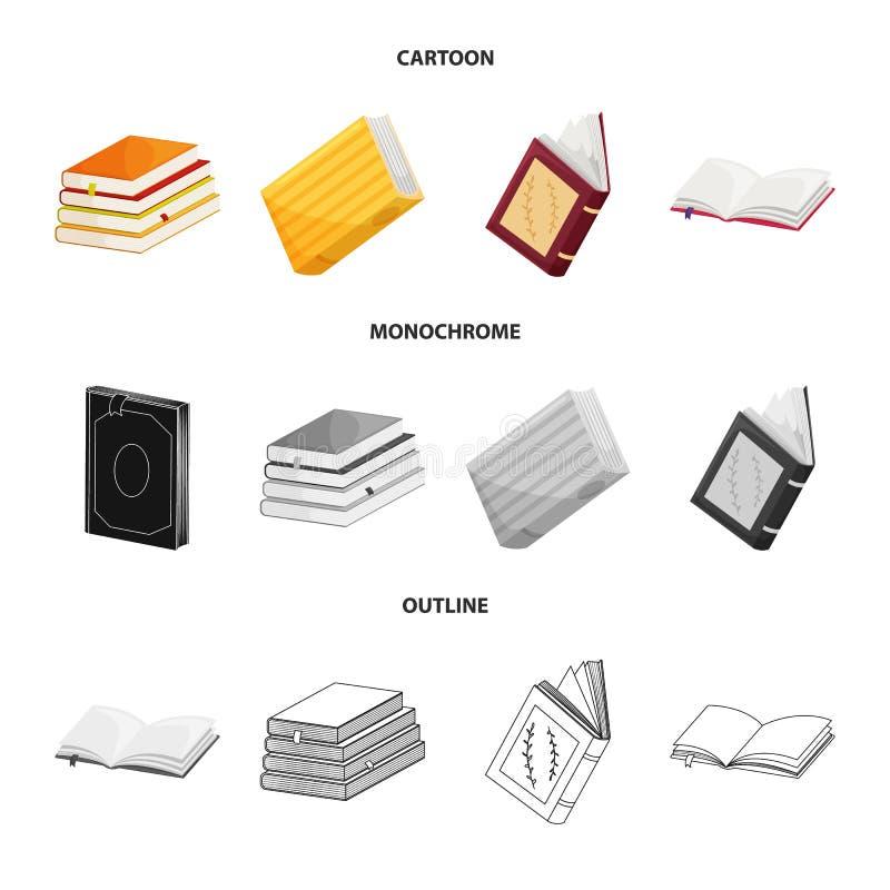 Wektorowy projekt szkolenia i pokrywy symbol Set szkolenie i bookstore akcyjny symbol dla sieci ilustracji