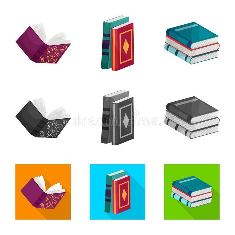 Wektorowy projekt szkolenia i pokrywy symbol Set szkolenie i bookstore wektorowa ikona dla zapasu ilustracja wektor