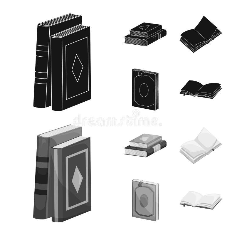 Wektorowy projekt szkolenia i pokrywy znak Kolekcja szkolenie i bookstore akcyjna wektorowa ilustracja royalty ilustracja