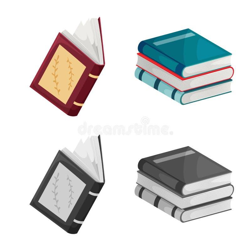 Wektorowy projekt szkolenia i pokrywy znak Kolekcja szkolenie i bookstore akcyjna wektorowa ilustracja ilustracja wektor
