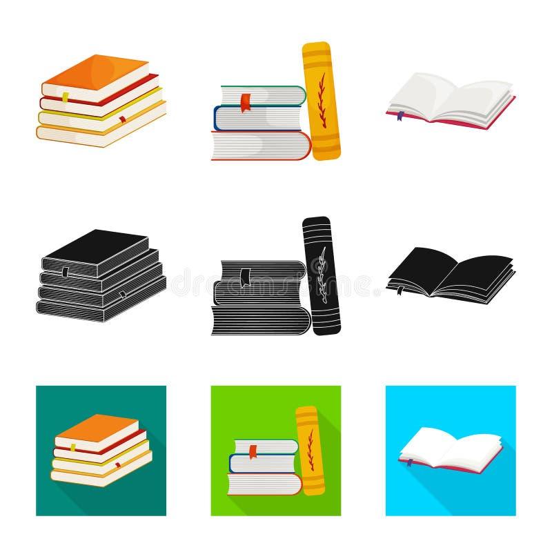 Wektorowy projekt szkolenia i pokrywy znak Kolekcja szkolenie i bookstore akcyjny symbol dla sieci ilustracja wektor