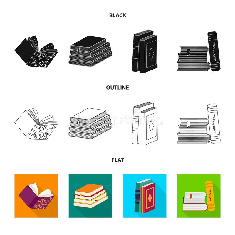 Wektorowy projekt szkolenia i pokrywy znak Kolekcja szkolenie i bookstore wektorowa ikona dla zapasu ilustracja wektor