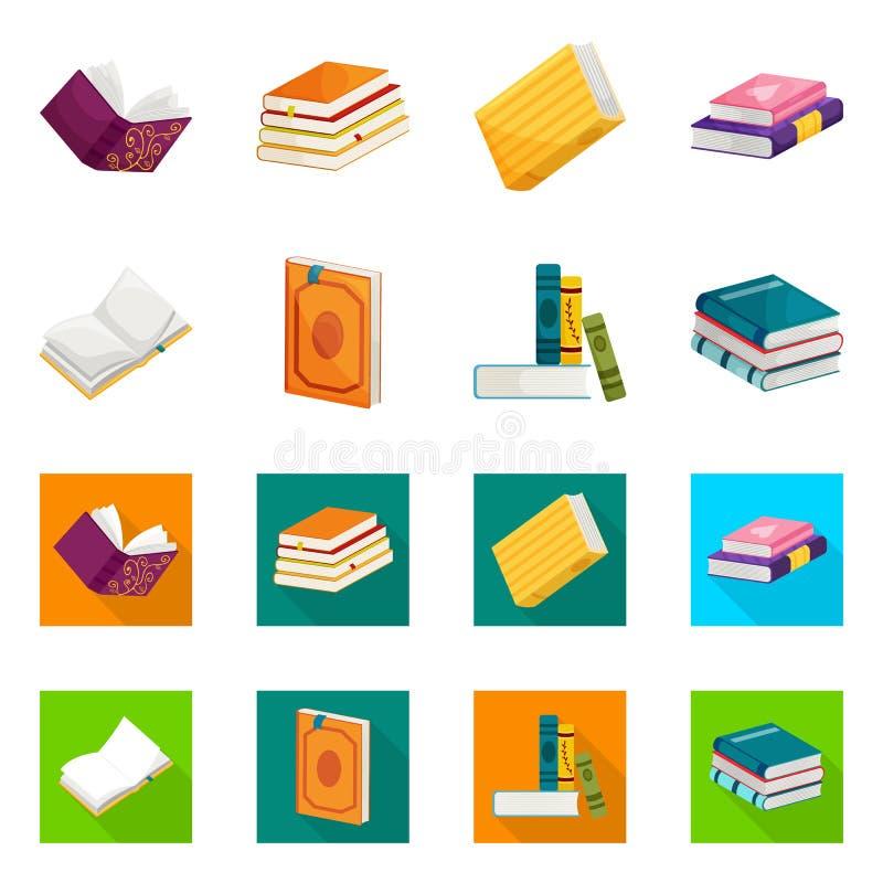 Wektorowy projekt szkolenia i pokrywy znak Kolekcja szkolenie i bookstore wektorowa ikona dla zapasu ilustracji
