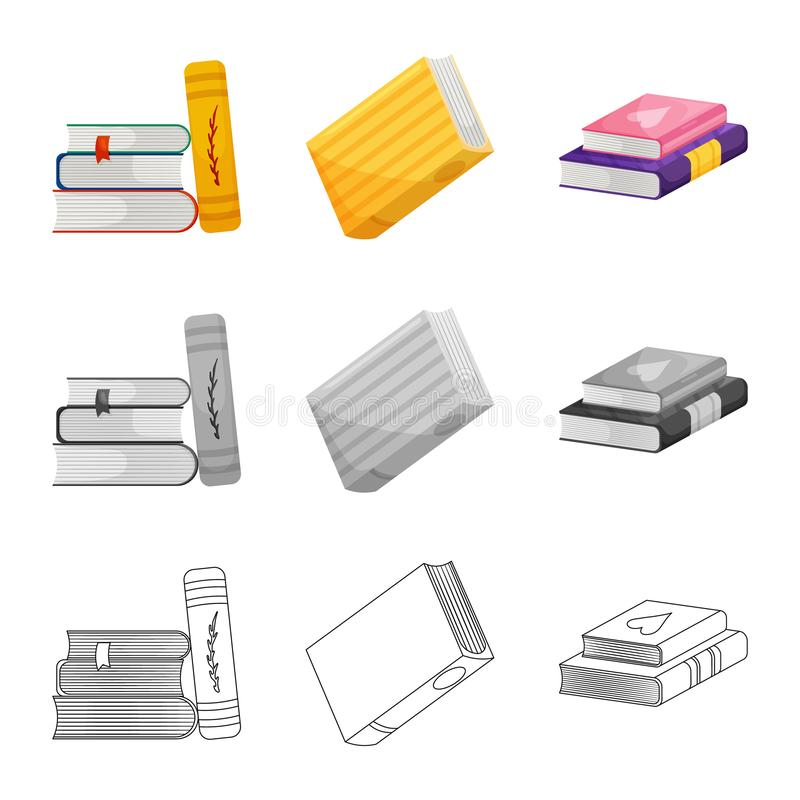 Wektorowy projekt szkolenia i pokrywy znak Set szkolenie i bookstore akcyjna wektorowa ilustracja ilustracji