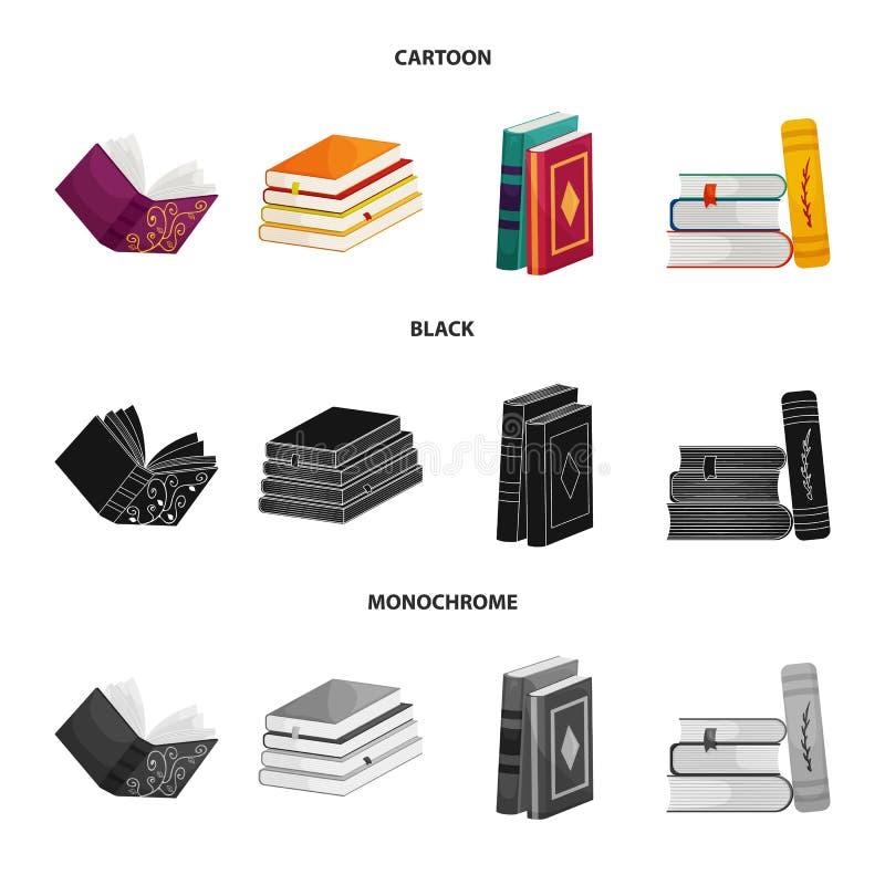 Wektorowy projekt szkolenia i pokrywy znak Set szkolenie i bookstore akcyjna wektorowa ilustracja ilustracja wektor