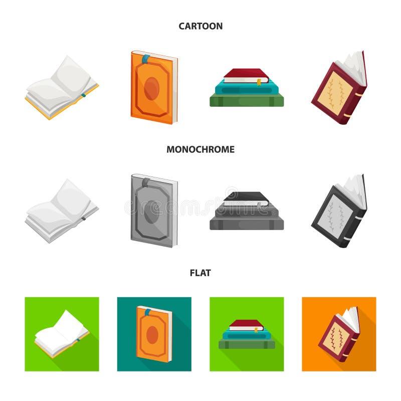 Wektorowy projekt szkolenia i pokrywy znak Set szkolenie i bookstore wektorowa ikona dla zapasu royalty ilustracja