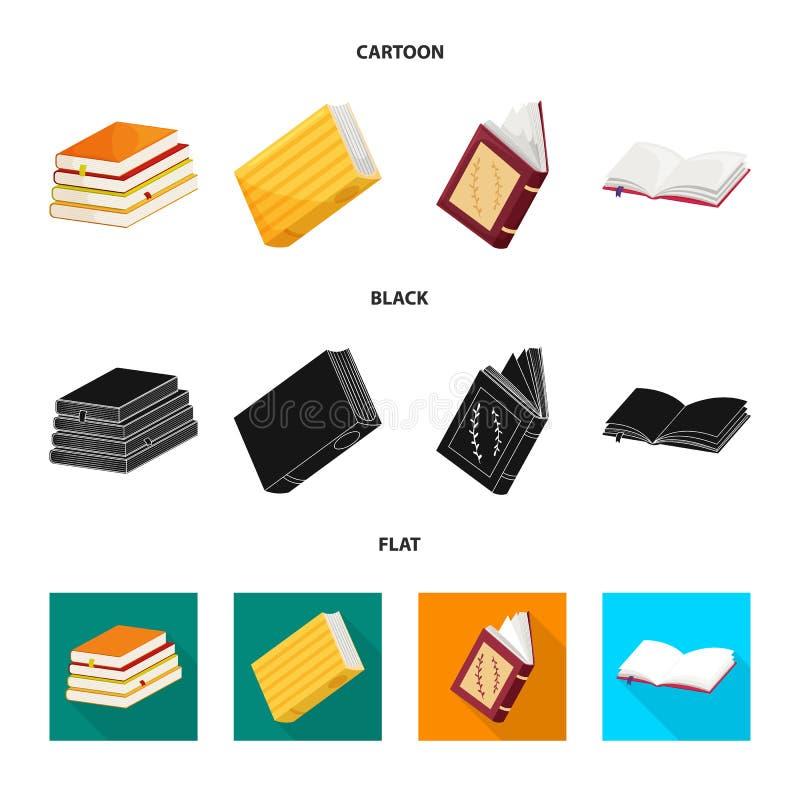 Wektorowy projekt szkolenia i pokrywy znak Set szkolenie i bookstore wektorowa ikona dla zapasu ilustracji