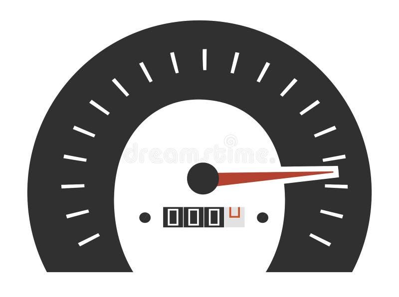 Wektorowy projekt szybkościomierzy wymierniki ilustracja wektor