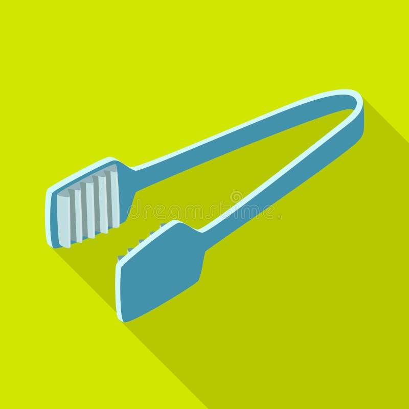 Wektorowy projekt tongs i dishware ikona Kolekcja tongs i cukierniany akcyjny symbol dla sieci royalty ilustracja