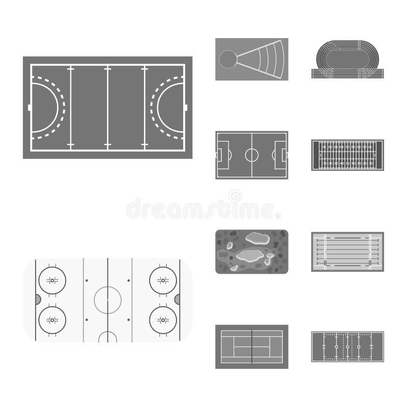 Wektorowy projekt trawy i gry znak Set trawy i budowy akcyjny symbol dla sieci royalty ilustracja