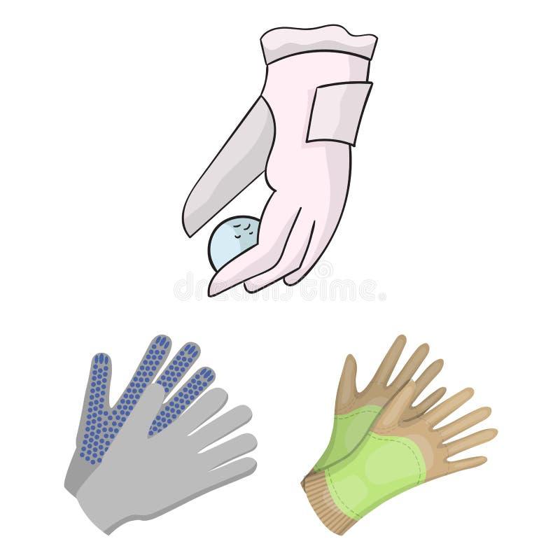 Wektorowy projekt trykotowy i pastuch znak Kolekcja trykotowy i ręka akcyjny symbol dla sieci ilustracji