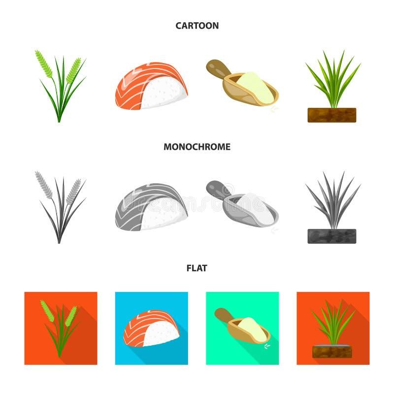Wektorowy projekt uprawa i ekologiczna ikona Set uprawa i kucharstwo akcyjna wektorowa ilustracja ilustracja wektor