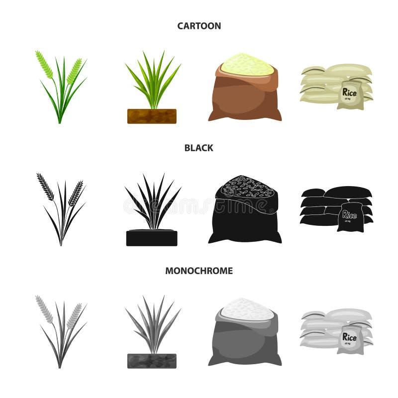 Wektorowy projekt uprawa i ekologiczna ikona Set uprawa i kucharstwo akcyjny symbol dla sieci royalty ilustracja