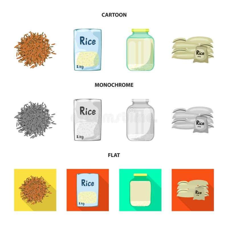 Wektorowy projekt uprawa i ekologiczna ikona Set uprawa i kulinarna wektorowa ikona dla zapasu royalty ilustracja