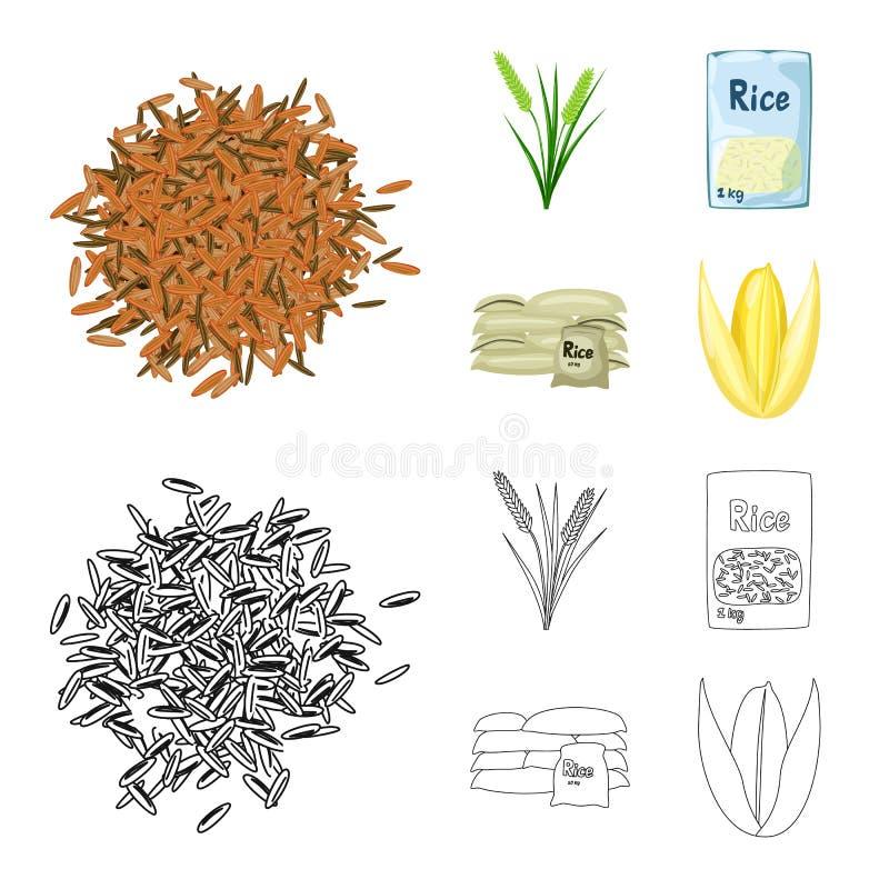 Wektorowy projekt uprawa i ekologiczny logo Kolekcja uprawa i kucharstwo akcyjny symbol dla sieci ilustracja wektor