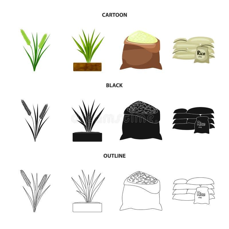 Wektorowy projekt uprawa i ekologiczny symbol Kolekcja uprawa i kucharstwo akcyjny symbol dla sieci ilustracji