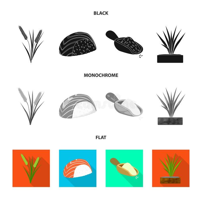 Wektorowy projekt uprawa i ekologiczny znak Kolekcja uprawa i kucharstwo akcyjna wektorowa ilustracja ilustracja wektor