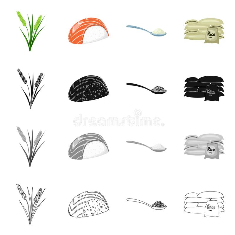 Wektorowy projekt uprawa i ekologiczny znak Set uprawa i kucharstwo akcyjna wektorowa ilustracja ilustracji