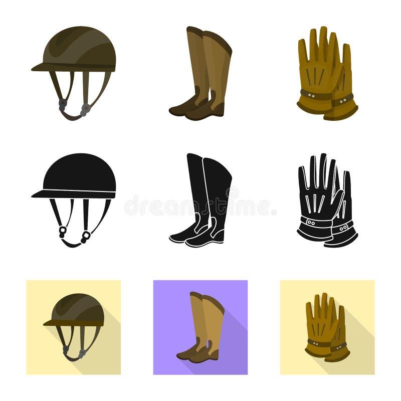Wektorowy projekt wyposa?enia i jazdy symbol Set wyposa?enie i turniejowy akcyjny symbol dla sieci ilustracji