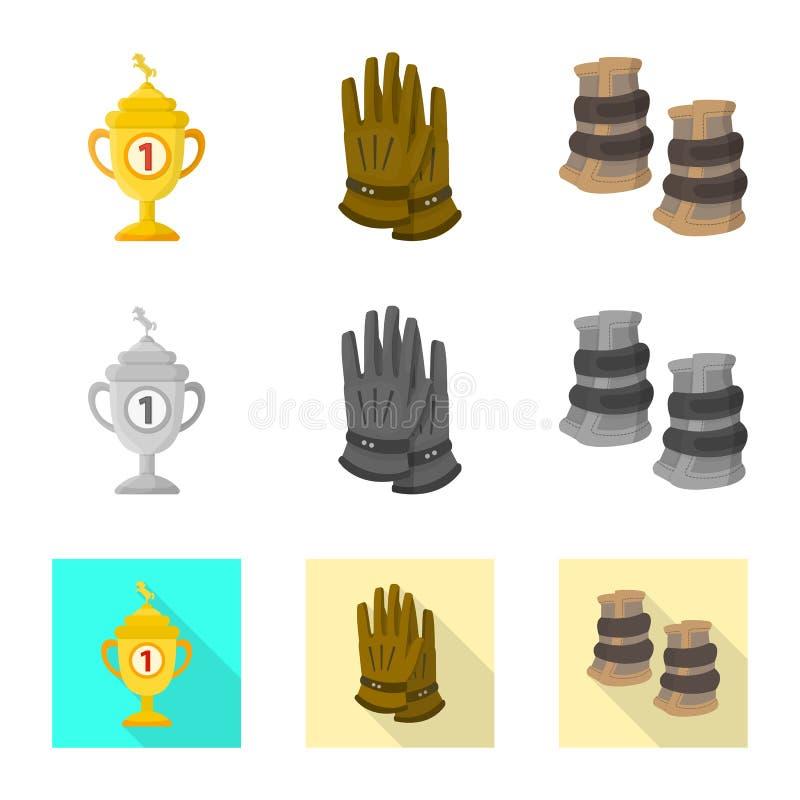 Wektorowy projekt wyposa?enia i jazdy znak Kolekcja wyposa?enia i rywalizacji wektorowa ikona dla zapasu ilustracja wektor