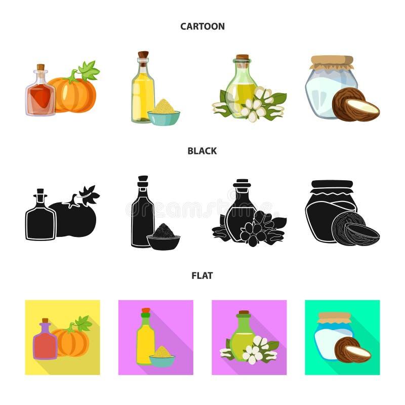 Wektorowy projekt zdrowa i jarzynowa ikona Set zdrowy i rolnictwo akcyjny symbol dla sieci ilustracja wektor