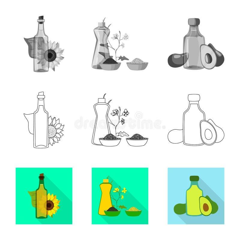 Wektorowy projekt zdrowy i jarzynowy logo Set zdrowy i rolnictwo akcyjny symbol dla sieci ilustracja wektor
