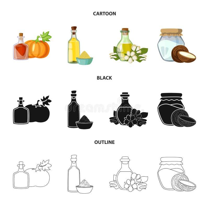 Wektorowy projekt zdrowy i jarzynowy znak Set zdrowy i rolnictwo akcyjny symbol dla sieci ilustracja wektor