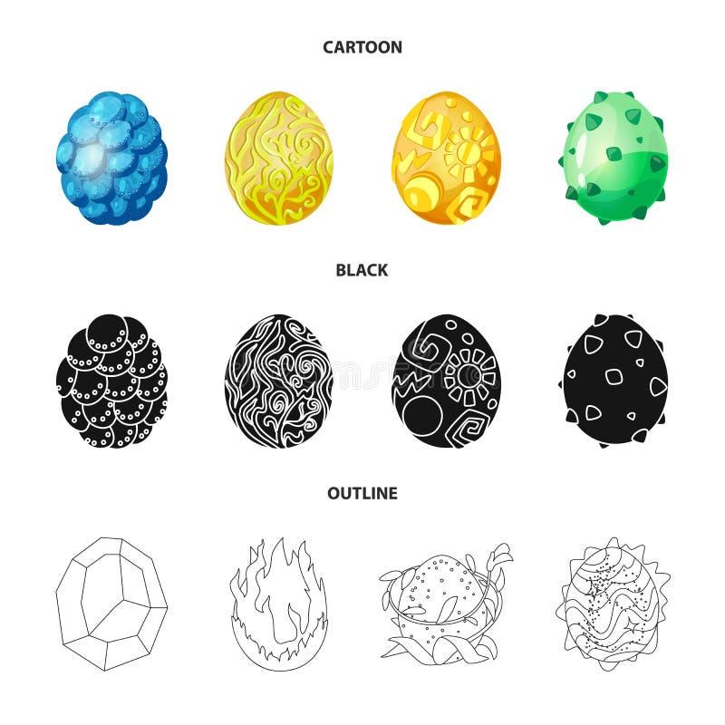 Wektorowy projekt zwierzęcy i prehistoryczny symbol Kolekcja zwierzęcy i śliczny akcyjny symbol dla sieci royalty ilustracja