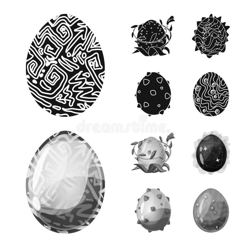 Wektorowy projekt zwierzęcy i prehistoryczny symbol Kolekcja zwierzęca i śliczna wektorowa ikona dla zapasu ilustracja wektor