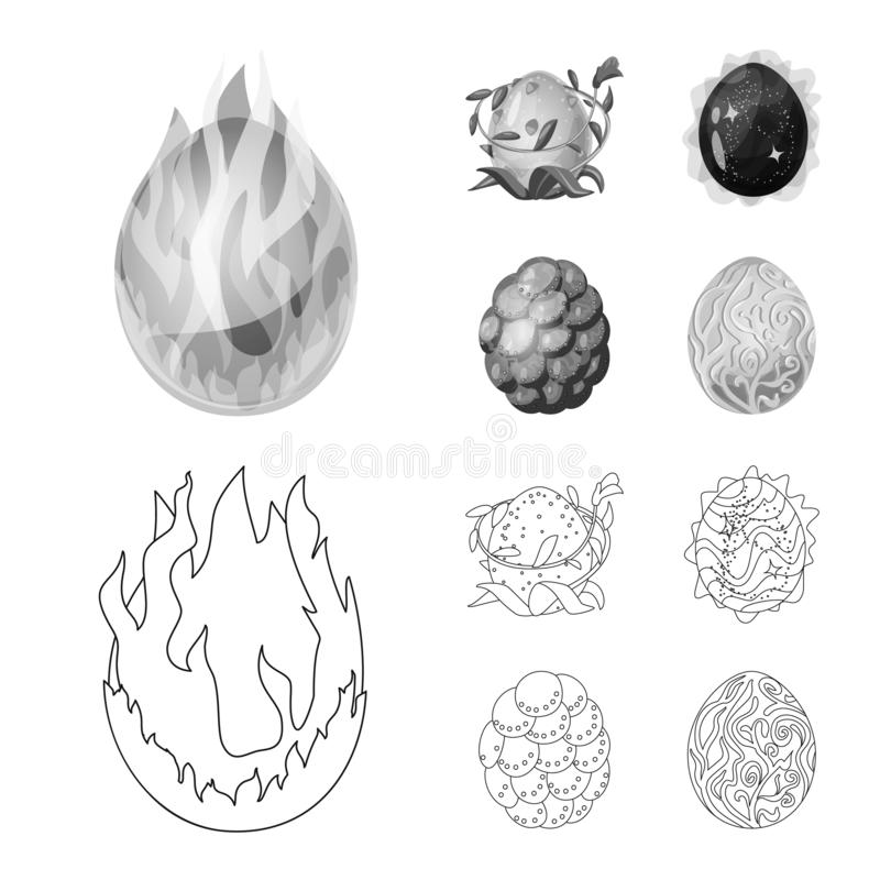 Wektorowy projekt zwierzęcy i prehistoryczny symbol Set zwierzęca i śliczna akcyjna wektorowa ilustracja ilustracja wektor