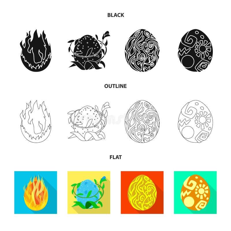 Wektorowy projekt zwierzęcy i prehistoryczny symbol Set zwierzęca i śliczna wektorowa ikona dla zapasu royalty ilustracja