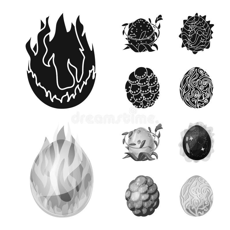 Wektorowy projekt zwierzęcy i prehistoryczny znak Set zwierzęcy i śliczny akcyjny symbol dla sieci ilustracji