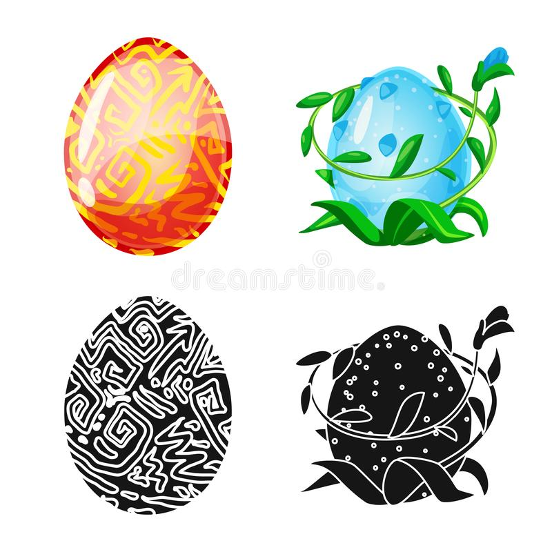 Wektorowy projekt zwierz?cy i prehistoryczny symbol Kolekcja zwierz?ca i ?liczna akcyjna wektorowa ilustracja ilustracja wektor