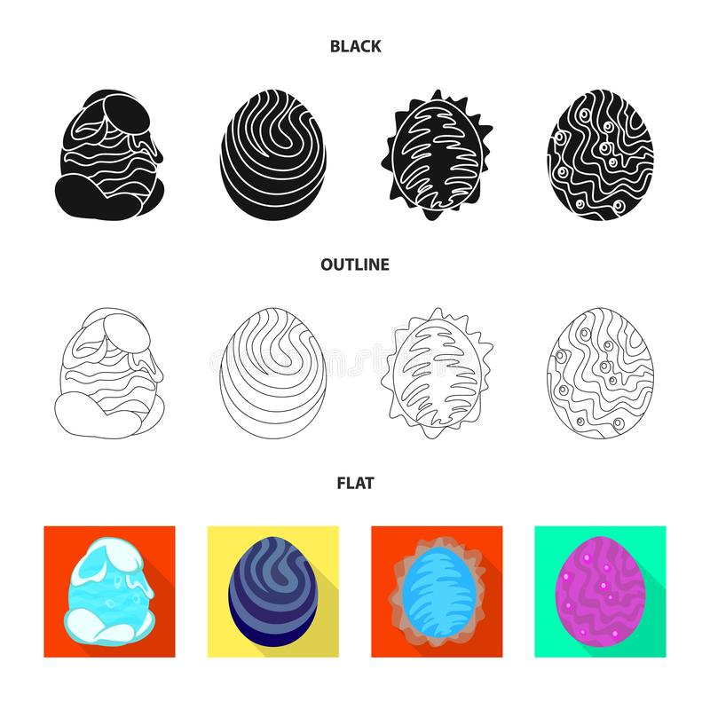 Wektorowy projekt zwierz?cy i prehistoryczny symbol Kolekcja zwierz?ca i ?liczna wektorowa ikona dla zapasu ilustracji