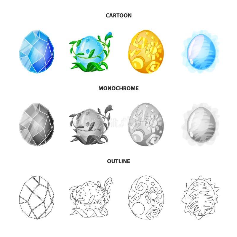 Wektorowy projekt zwierz?cy i prehistoryczny symbol Set zwierz?ca i ?liczna wektorowa ikona dla zapasu ilustracja wektor