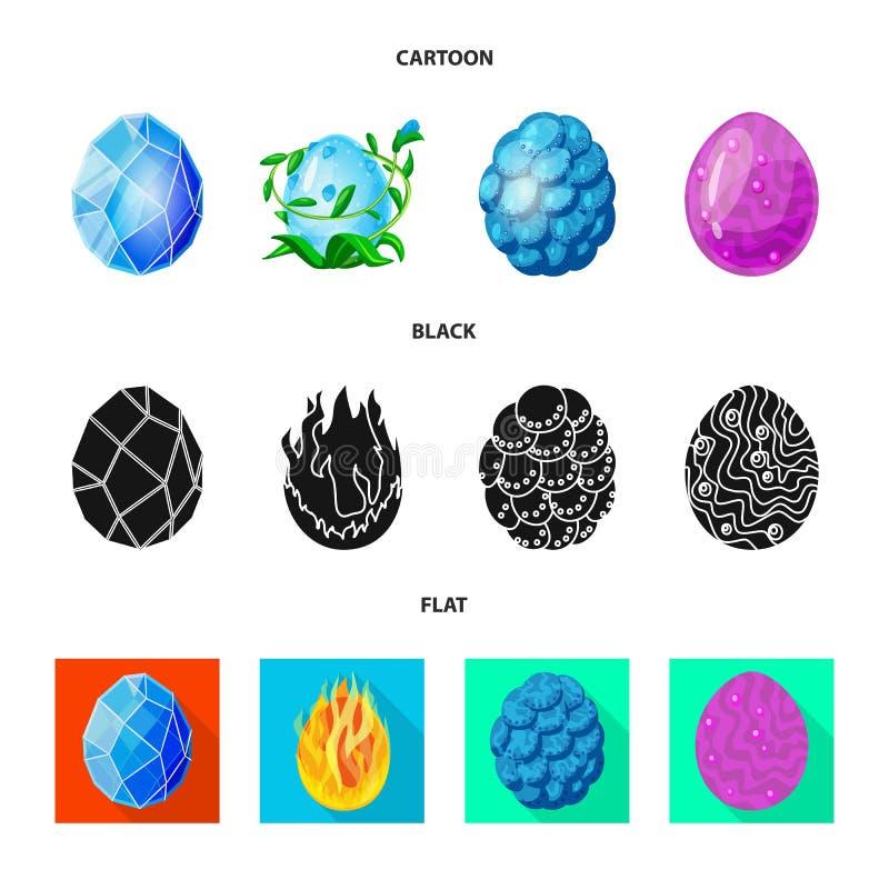 Wektorowy projekt zwierz?cy i prehistoryczny symbol Set zwierz?cy i ?liczny akcyjny symbol dla sieci ilustracji