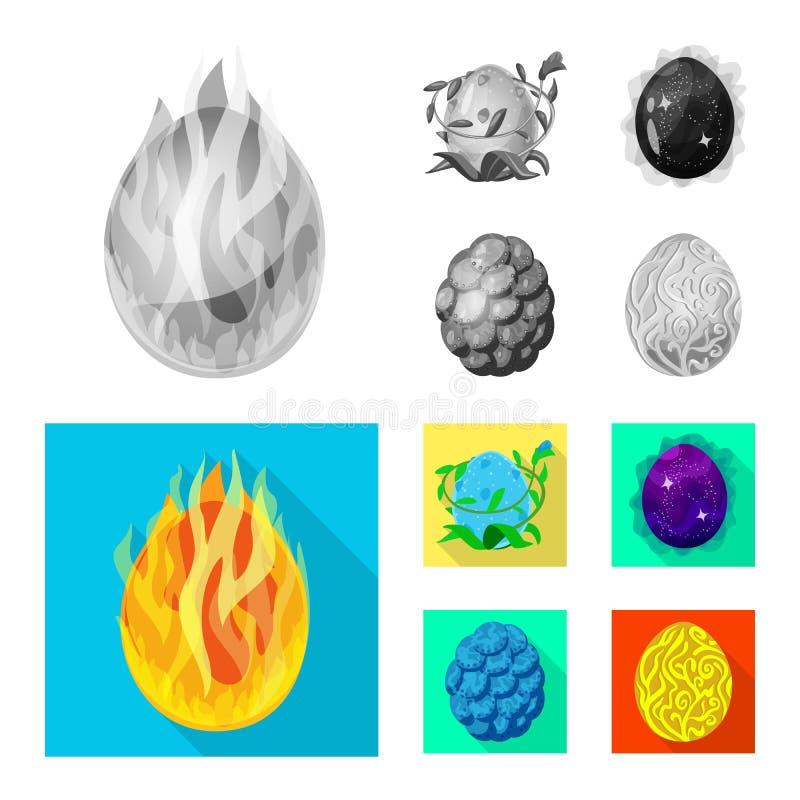 Wektorowy projekt zwierz?cy i prehistoryczny znak Set zwierz?ca i ?liczna akcyjna wektorowa ilustracja royalty ilustracja