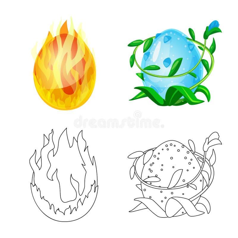 Wektorowy projekt zwierz?cy i prehistoryczny znak Set zwierz?cy i ?liczny akcyjny symbol dla sieci ilustracji