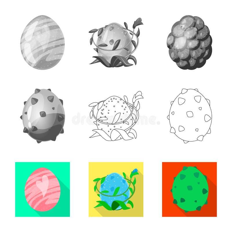 Wektorowy projekt zwierz?cy i prehistoryczny znak Set zwierz?cy i ?liczny akcyjny symbol dla sieci ilustracja wektor