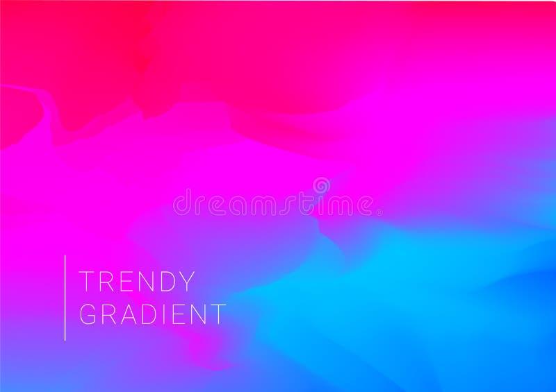 Wektorowy projekta szablon w modnym wibrującym gradiencie barwi z abstrakcjonistycznymi kształtami royalty ilustracja