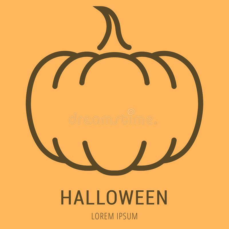 Wektorowy Prosty loga szablon Halloween ilustracja wektor