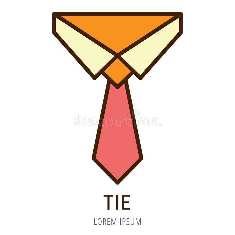 Wektorowy Prosty loga szablonu krawat ilustracji